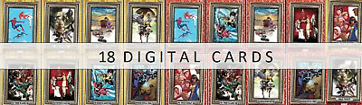 Topps Marvel Collect FAMILIES [18 CARD RED/YELLOW SET]