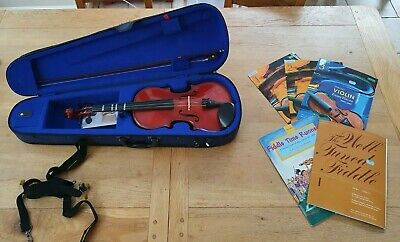 Stentor Student Violin Full Size & Case, Resin, 5 books, Rest Pad, Music Stand