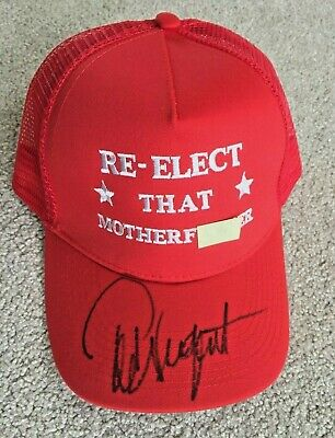 TED NUGENT signed autographed Re-elect that Mother F* hat President Donald Trump