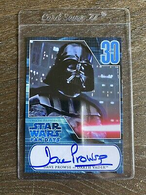 Star Wars Dave Prowse Darth Vader Autograped Topps Card 2007