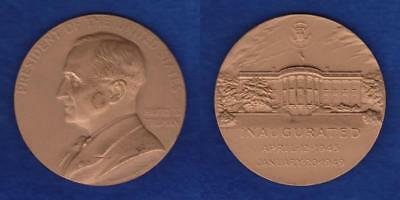 "Us Mint Large Size 3"" Harry S. Truman Inaugural Medal  ---  Rdap"