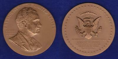 "RICHARD NIXON US MINT LARGE SIZE 3"" INAUGURAL MEDAL by GASPARRO  ---  SJHF"