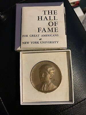 HTF NYU HALL OF FAME MEDALLIC ART CO FRANCES WILLARD BRONZE MEDAL GEM with box