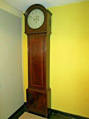 Super Quality Figured Mahogany And Inlaid 8 Day Scottish Longcase Working Order