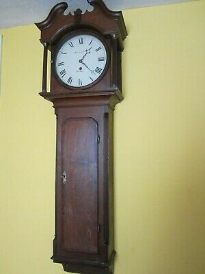 Good Whitehurst & Sons Derby Tavern Clock Signed Dial & Movement Working Order