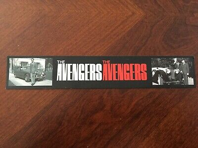 The Avengers bookmark - featuring John Steed - classic 1960s TV show