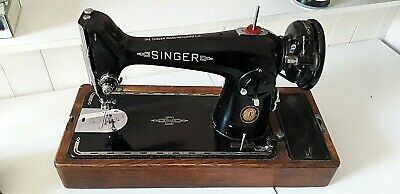 Vintage Singer 201K Sewing Machine with Extension Table c1951 - new electrics!
