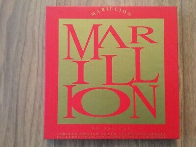 """Marillion - No One Can, Limited Edition Boxed 7"""" Vinyl + 4x7"""" Pics & Badge"""