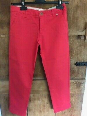 Lovely Zara Girls Red Trousers Age 11/12 152Cm New Without Tags