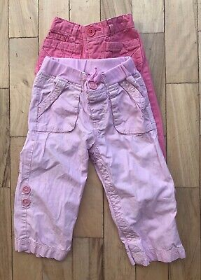 Gap Girls Pink Trousers. Age 12-18 months.