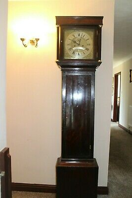 8day mahogany case longcase clock by George Sommerson london 1700 5 pillar movem