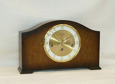 Bentima Hermle 8 Day Oak Westminster Mantle Mantel Chime Clock