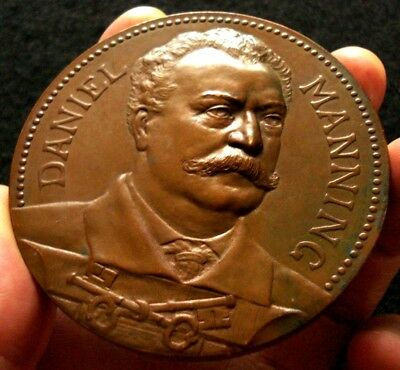 1887 Daniel Manning Medal - Secretary of the Treasury - LOVELY and RARE