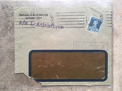 Old letters from transatlantic liners to Belgium (quite difficult to find)
