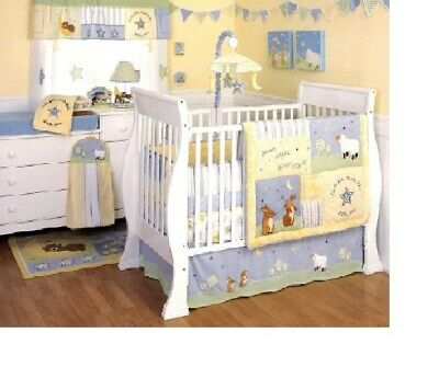 Kidsline Good Night Sleep Tight cot / cotbed quilt / coverlet