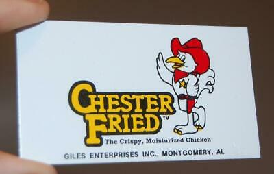 Vintage Chester Fried Chicken Montgomery Al. Metal Advertising Tag Sign