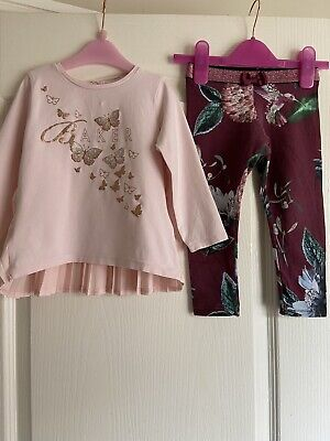 Gorgeous Ted Baker Long Sleeve Top And Leggings Set Age 2-3