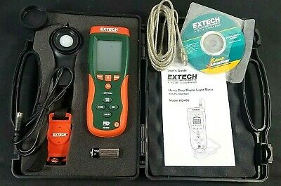 Extech Heavy Duty Digital Light Meter HD400 - Complete