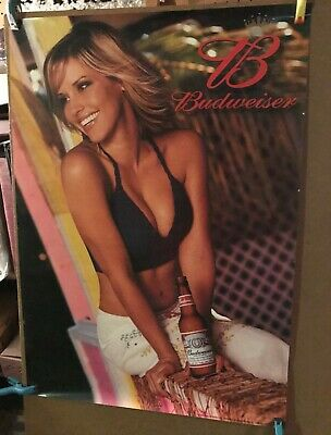 Pretty Budweiser  Beer Poster measuring 19 by 27 inches