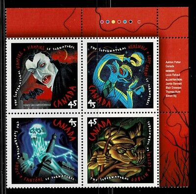 Canada - ML#841 - The Supernatural, UR Pl Block, Scott #'s 1668a MNH