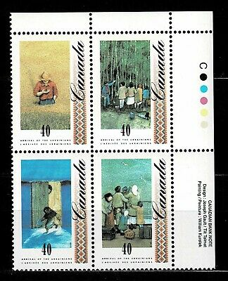 Canada - ML#857 - Arrival of Ukrainians, UR Pl Block Scott #'s 1329a MNH