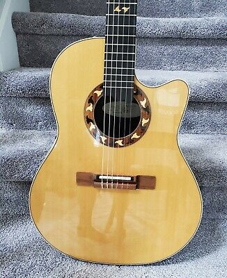 2003 Ovation 6773-4 Country Artist Nylon-String Acoustic-Electric Guitar. Sweet!