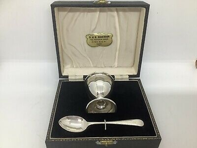 Sterling Silver Birmingham 1949 Egg Cup & Spoon
