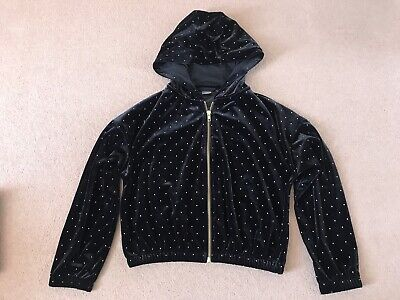 Girls Next Black And Gold Zip Up Hoodie - Excellent Cond - Age 11yrs