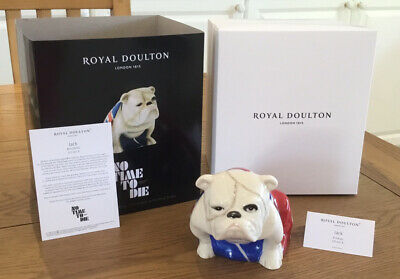 Royal Doulton Jack The Bulldog No Time To Die Plus Box And C.o.a. Brand New🔥🔥