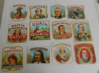 Lot Of 41 Different Very Nice Outer Cigar Box Labels