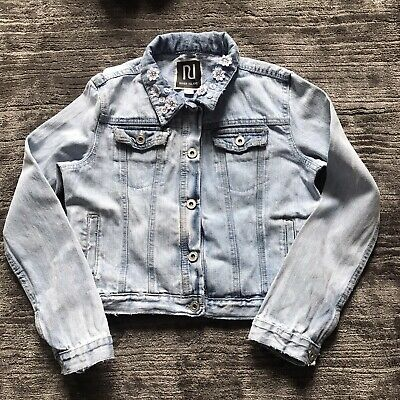 River Island Girls Denim Jacket Coat Age 12