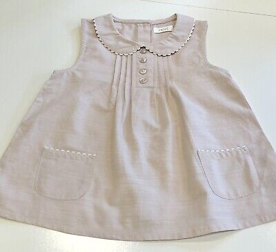 Girls Next Dusky Pink Sleeveless Tunic Top, Age 2-3 Years