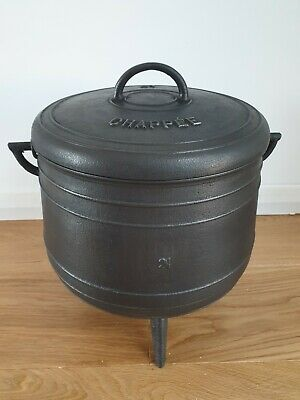 Chappée French Cast Iron  Vintage Cooking Pot 21l Circa 1880