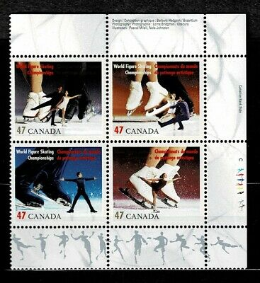 Canada - ML#861 - Figure Skating , UR Pl Block Scott #'s 1899 MNH
