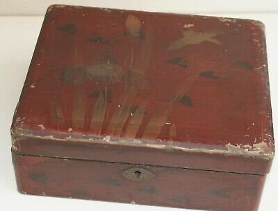 Edwardian / Victorian Japanese Lacquered Jewellery Box