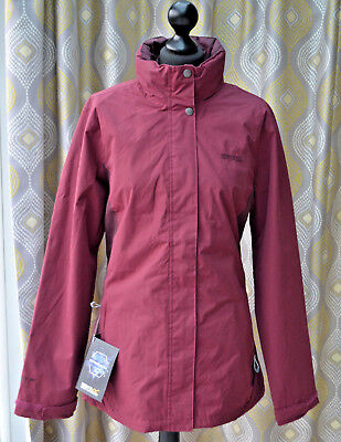 Regatta Womens Hydrafort Jacket Outdoors Hooded Sz. 16 UK - Purple Red