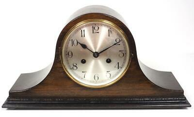 Original Napoleon Hat Shaped Mantel Clock English 8 Day Striking Mantle Clock