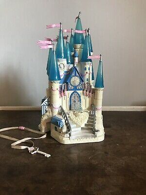 Vintage 1996 Polly Pocket Cinderella Castle With Figures, Coach And Key