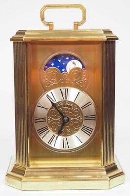 Incredible Hermle Moon Roller Carriage Clock Bell Striking 8 Day Mantel Clock