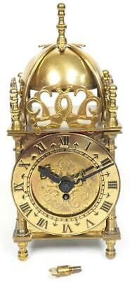 Superb Antique English Brass Lantern Carriage Clock, Made By Smiths England