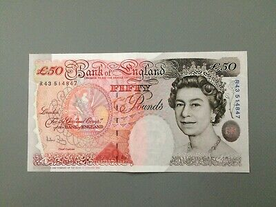 OLD Fifty Pound (£50) Bank OF England notes - UNCIRCULATED  - - -