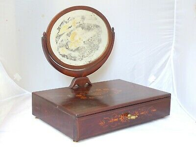 Charming French Antique Dressing Table Vanity Mirror c1870 Rosewood Marquetry