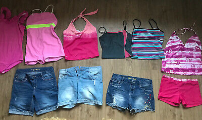 Girls Summer Clothes Bundle Age 13-14 Years Denim Shorts Tankinis