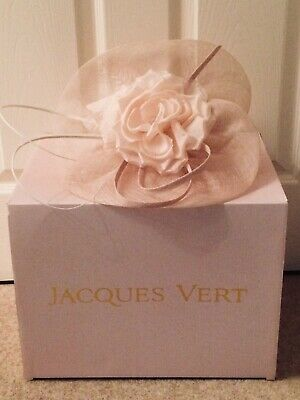Jacques Vert Fascinator ~ Blush Pink ~ with Box, Immaculate, used once ~Cost £79