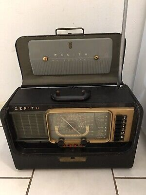 Zenith Transoceanic Tube Radio Model H500 Mid Century Working excellent