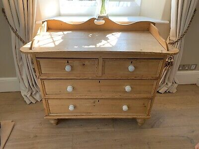Victorian Pine Chest Of Drawers, Antique Pine Chest, Pine Bedroom Furniture