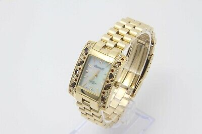 18k Gold Plated - Gems - Mother of Pearl - Ladies watch-Beautiful!