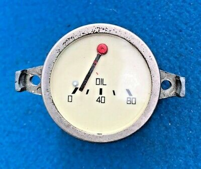 Classic Car Oil Pressure Gauge With Magnolia Face Good Condition Free P+P