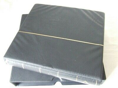 Lighthouse Black Luxury Padded 4 Ring Album & Slipcase, Excellent Condition