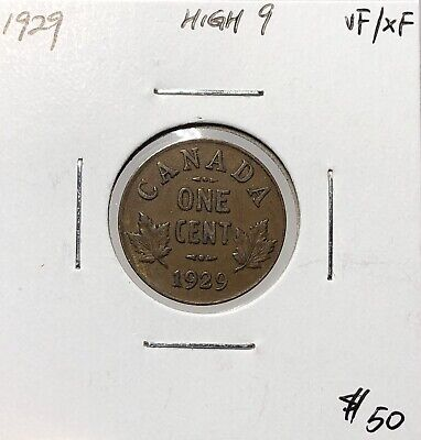 Canada 1929 One Cent High 9